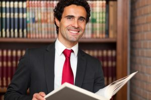 Personal Injury Attorney reviewing case of the Product Liability. Attorney looking to solve the case, reviewing the evidence.